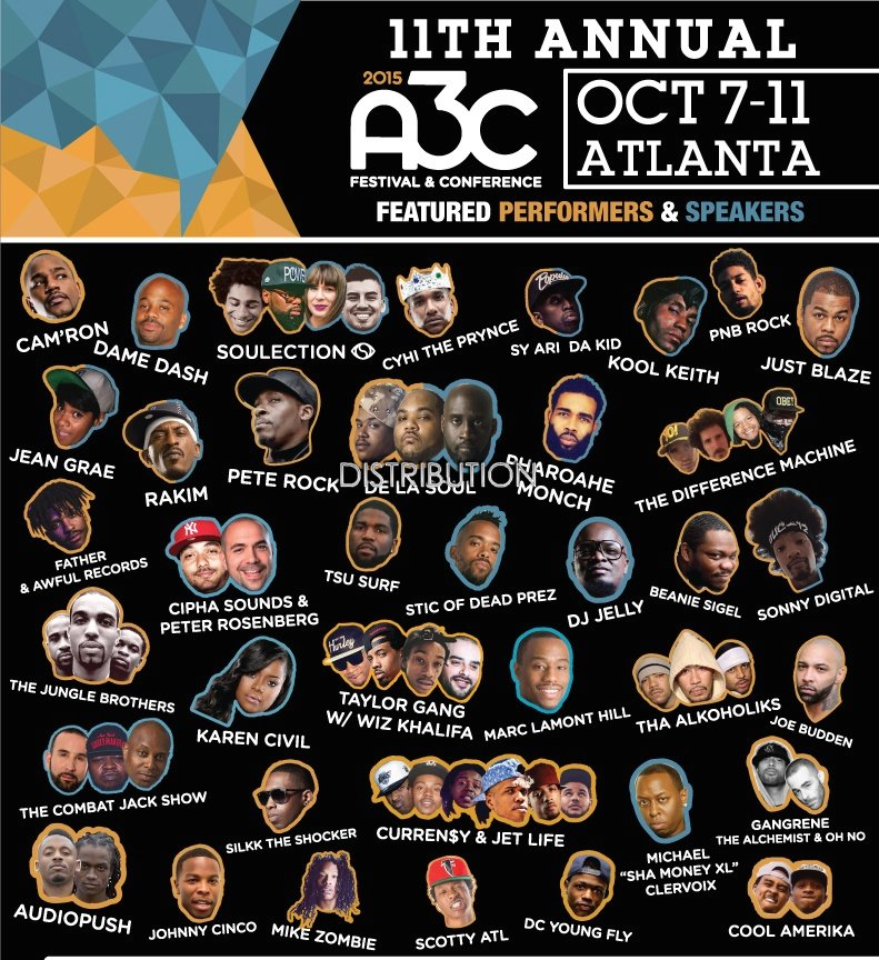 A3C Music Festival 2015 Atlanta GA Date