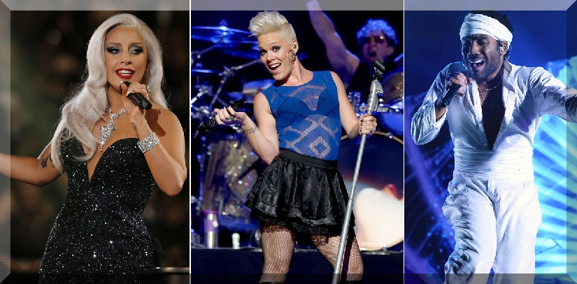 GRAMMY AWARDS 2018 first Performers Lady Gaga, Pink, Childish Gambino