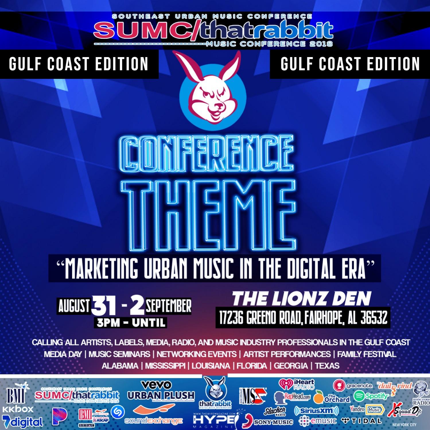SUMC THAT RABBIT URBAN MUSIC CONFERENCE AUG 31st SEPT 2nd Fairhope AL